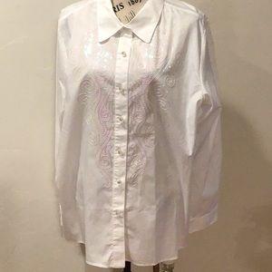 Bob Mackie button down shirt